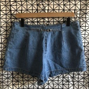 Vintage Hot & The Gang High Waisted Jean Shorts